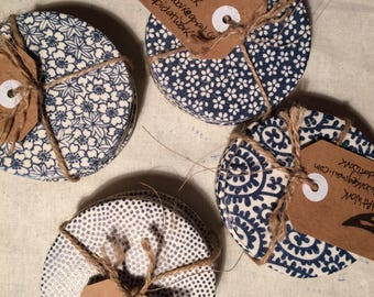 Blue & White Porcelain Coasters