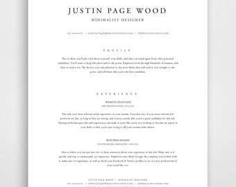 classic resume resume template instant download resume and cover letter template classic modern