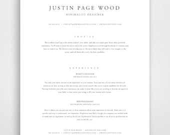Traditional resume template elegant resume classic resume classic resume resume template instant download resume and cover letter template classic modern yelopaper Image collections