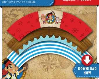 Jake and the Neverland Pirates Cupcake Wrappers | Pirate Birthday Party | Printable | Invitations & Party Kit Available | Instant Download