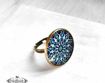 SOTOODEH adjustable ring  - Persian jewelry- Oriental - Mandala