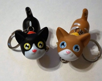 Cat Kitty Key Chain Figure Cute Birthday Goodie Goody Bag Party Favor Kawaii Harajuku Animal