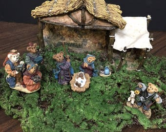9-Pc Bear Nativity Set