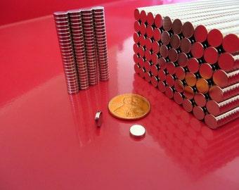 500 - 1/4 x 1/16 inch  Neodymium Disc Magnets  Craft Magnets - Warhammer 40K