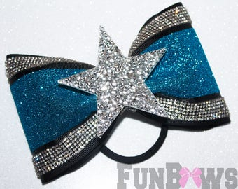 Beautiful New Rhinestone Star and Glitter Tailless Cheer - XL size, over 6,000 stones by FunBows !
