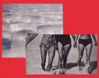 red series 03 - power in friendship - ORIGINAL COLLAGE