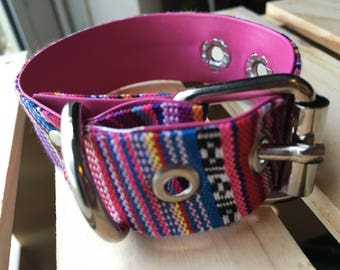 Mexican Dog Collars / Dog collars with Mexican Fabrics / Dog accessories / Dog collars /