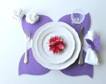 Set of 4 Felt Placemats with napkins / Sets / Place Mat / Modern Placemats / Mat Table / Elegant Placemats/ Placemat Set