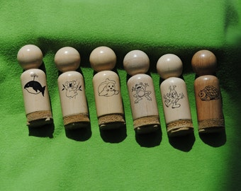 Rubber Stamps   Padi*Waggles  Lot of 6    1987-1989   Vintage
