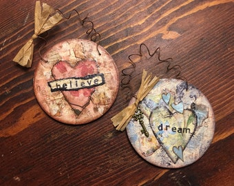 Everyday Ornaments - Mixed Media Collage