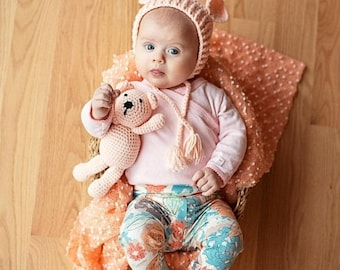 ON SALE Sweet Peach Leggings, Pants, Leggings For Babies, Newborn, Baby Girl, Baby Pants, Joggers, Leggings, Girls