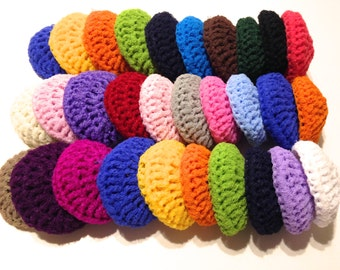 Assorted Crocheted Nylon Netting Dish Scrubbies-Mystery Lot Of Thirty
