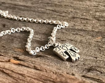 Navajo Eagle Necklace, Thunderbird Pendant, Southwest Jewelry, Navajo Jewelry, Sterling Silver Necklace, Bohemian Necklace, Bohemian Jewelry