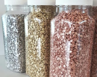 16oz Edible sequins, edible confetti, cupcake sprinkles, cake decoration, cupcake decoration