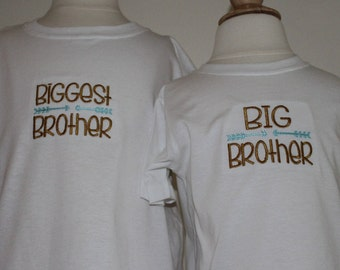 Big Brother shirt, Biggest brother shirt, Baby Sister gown, Sibling set, Coming home outfit,Take Me Home, Baby shower gift, Big Sister shirt