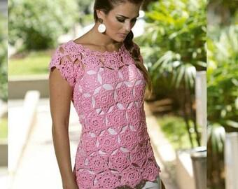 Handmade CROCHET summer#beach blouse#top boho top #crochet blouse #handmade Rose blouse #summer outfit