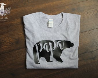 Papa Bear Tee - Men's Shirt or Hoodie
