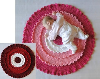 Blooming Flower Baby Afghan Crochet Pattern - Blooming Flower Lap Blanket Crochet Pattern - Crochet Flower Afghan - Instant Download PDF
