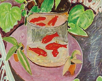 Matisse - Bowl of Goldfish - Beautiful art print - gift for artists art lovers  - great gift framable 8 by 10 inch with or without mat