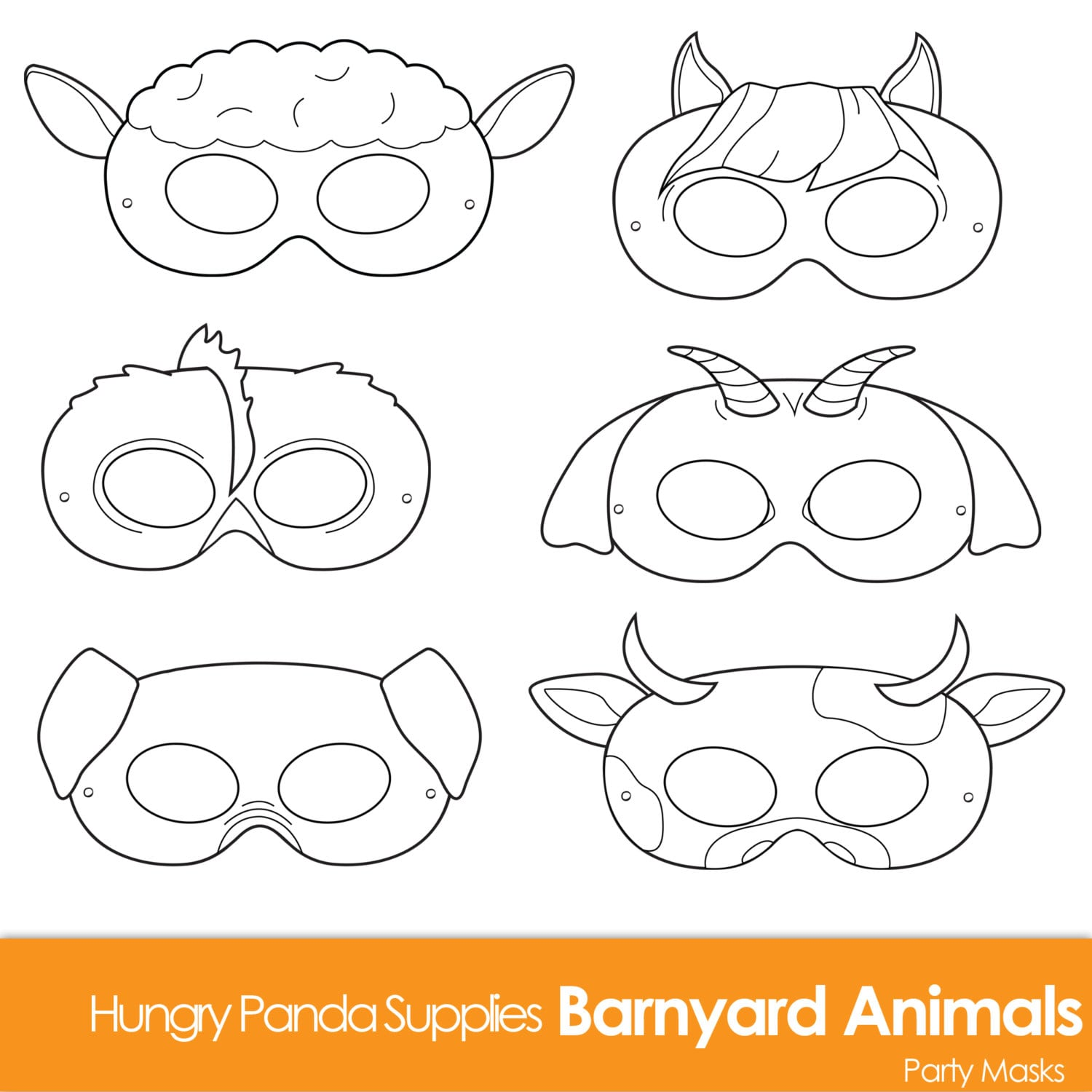 Barnyard Animals Printable Coloring