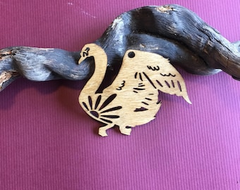Wood Swan Ornament
