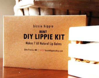 1 DIY Lip Balm Kit. Makes 7 all natural lip balms! CUSTOMER FAVORITE! Pick from 9 flavors! bh Lippie Kit. Over 500 kits sold!