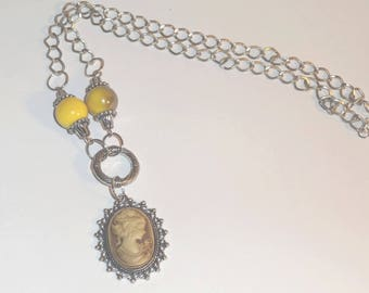 Necklace silver and Pearl Sheen