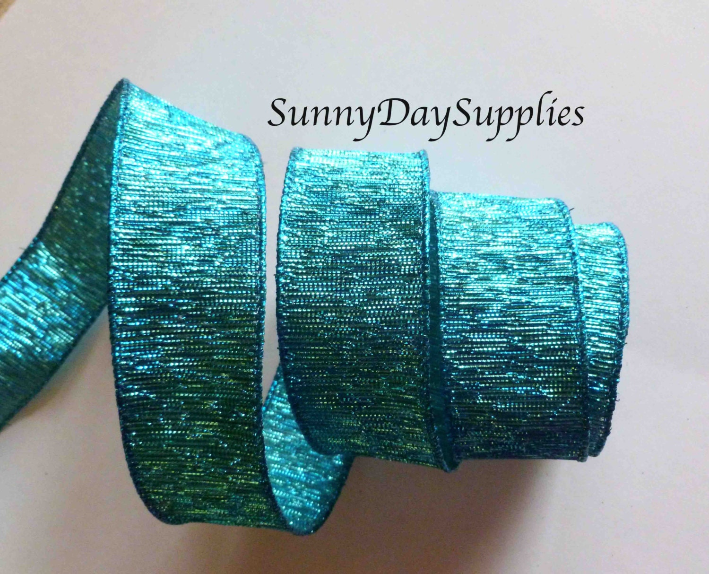 Sale, Christmas Teal, Turquoise Metallic Ribbon, Wired Teal, Aqua ...