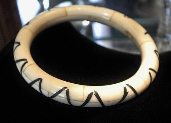 Ox Bone Bangle / Oxbone / Tribal Bracelet / Boho Bohemian / Gypsy / Oxen