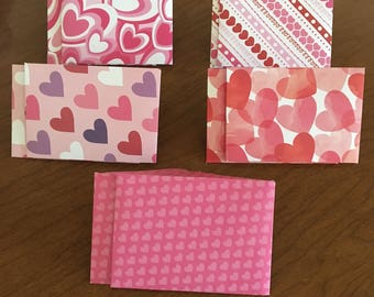 Heart Mini Envelopes, Gift Card Size, Pack of 10