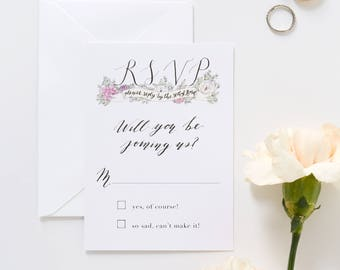 Illustrated RSVP | Custom Hand Drawn Reply Card for Weddings & Special Events