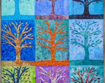 Nine Trees on Cool Colors