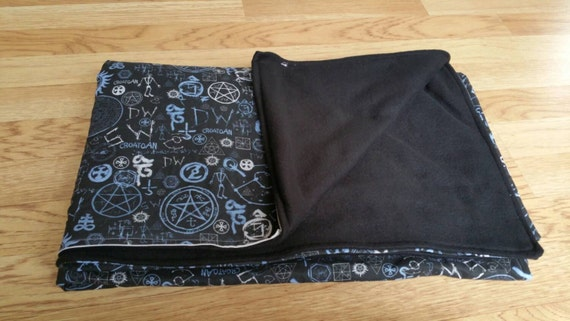 Lightweight Supernatural Inspired Cotton/Fleece Throws