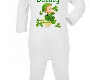 Pajamas Baby Elf personalized with name