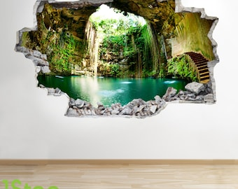 Cave Wall Sticker 3d Look - Bedroom Lounge Mexican Cave Wall Decal Z269