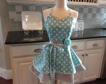 By the Sea ~ Sadie Style Women's Apron ~ 4RetroSisters - Cute for Bridal Gift