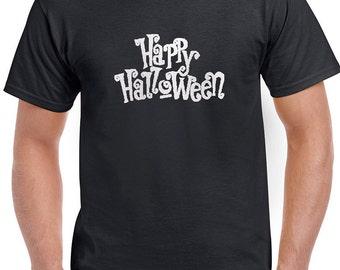 Happy Halloween Funny Shirts T-Shirt T-Shirts Women Men Ladies Boys Girls Unisex Fit