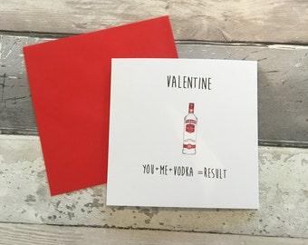 Valentines card- valentine card - vodka card- vodka valentines card - rude valentines card - funny valentines card- valentines vodka - vodka