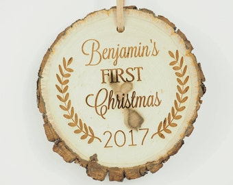 Baby's First Christmas Ornament, Basswood First Christmas Ornament