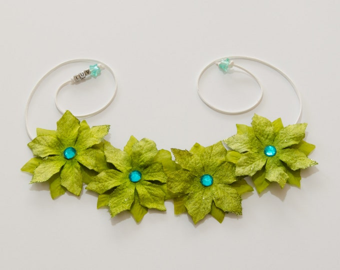 Green Poinsettia Flower Crown