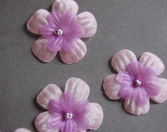 22pcs Large Pink Purple Die Cut Flowers