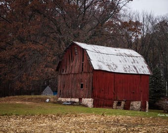 Autumn Red Barn