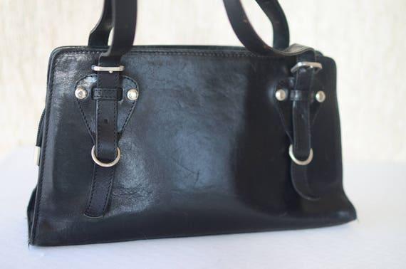 e05fa9cf42b0 Women Black Genuine Leather Bag Classic Handbag Shoulder Bag