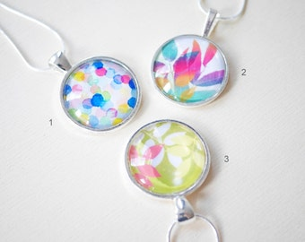 Modern colorful cabochon necklace