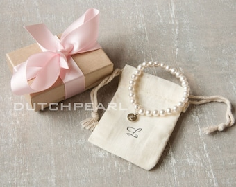Personalized kids pearl jewelry -  little girl jewelry   - baby pearl  - personalized baby jewelry beach flower girl