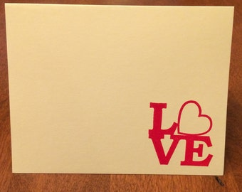 Set of 8 Love Valentine Notes