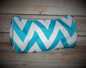 Monogrammed Cosmetic bag, zipper pouch, pencil case, chevron makeup bag, personalized cosmetic bag, cosmetic bags, Chevron bag