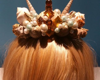 Beautiful Seashell Tiara Mermaid Crown