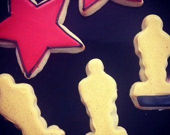 Academy Awards Sugar Cookies Oscars and Stars One Dozen