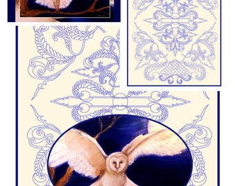 Barn Owl Fine Art Stationary Set